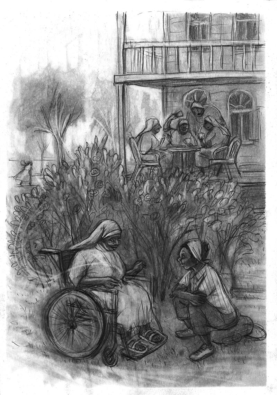 Illustration zu «Lady Happy und der Zauberer von Ukerewe» von Hermann Schulz, Aladin Verlag 2016