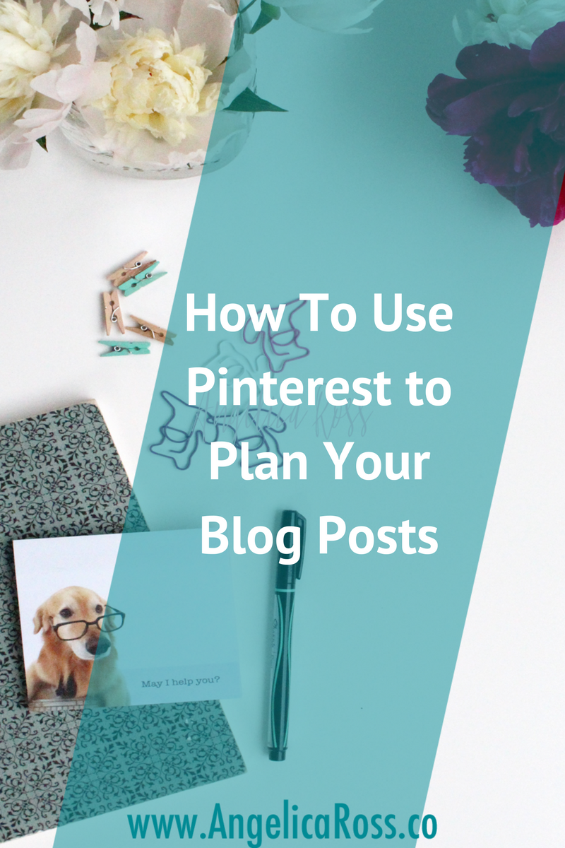 Pinterest is an awesome tool to help you brainstorm and plan your blog posts!