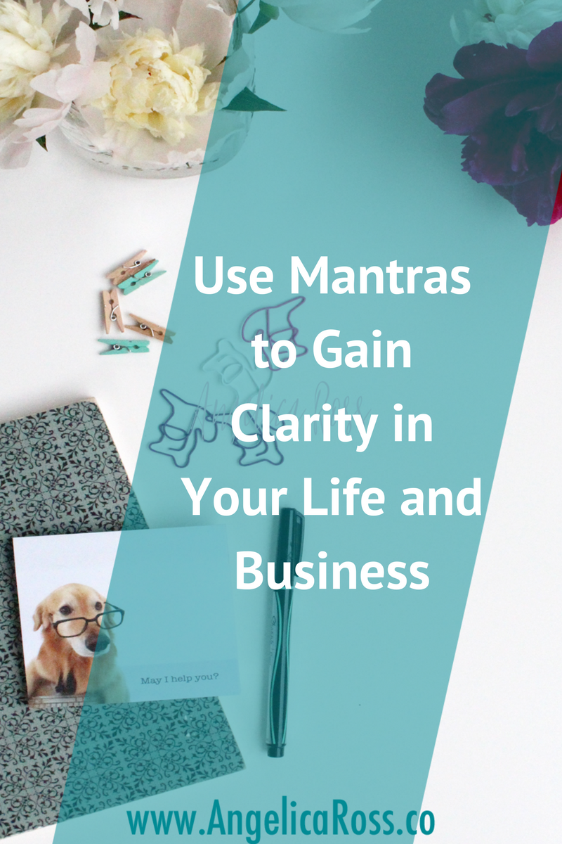 I can't believe the changes in my life since using mantras. Mantras are great to help you tap into your intuition and really get clear on what you want in business and life!