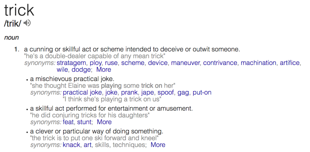 Trick definition as it applies to deceive someone.png