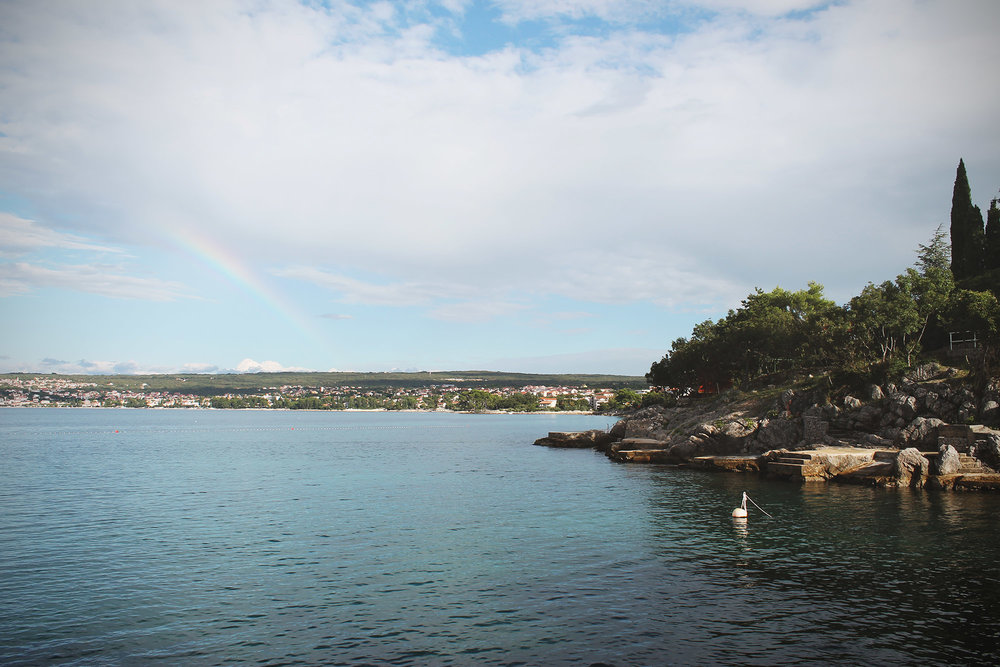 rainbow after we got wet from a cloud appearing from nowhere :)