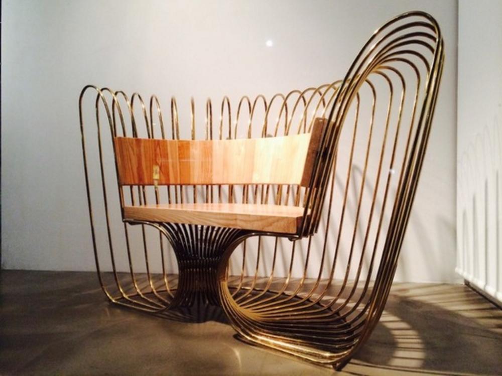 Nicole Monks' Walarnu (Boomerang) chair.Photo by Chico Monks