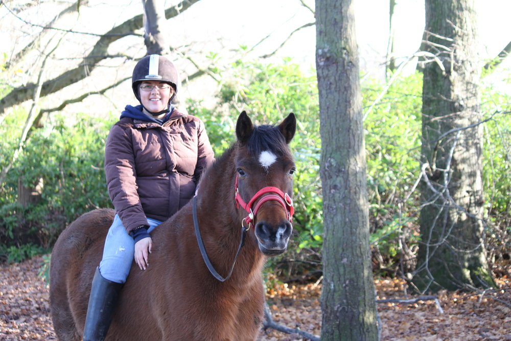 Timothy & Jade - After many attempts to back him Timothy was retired as he deemed dangerous to ride. This photo was taken 4 months into his training with Jade. Within the year he was doing agility with a child and is now a happy ridden pony.