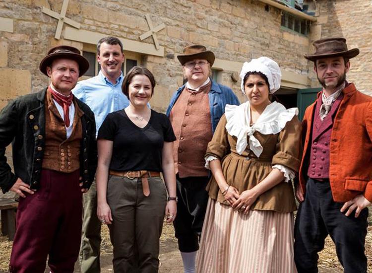 From Left to Right:John Swift, Alex Langlands, Annie Grey, John Foster, Harpreet Baura-Singh, Duncan Glendinning