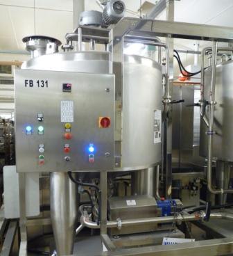 Our sourdough vats each hold 1,500 kilos of sourdough