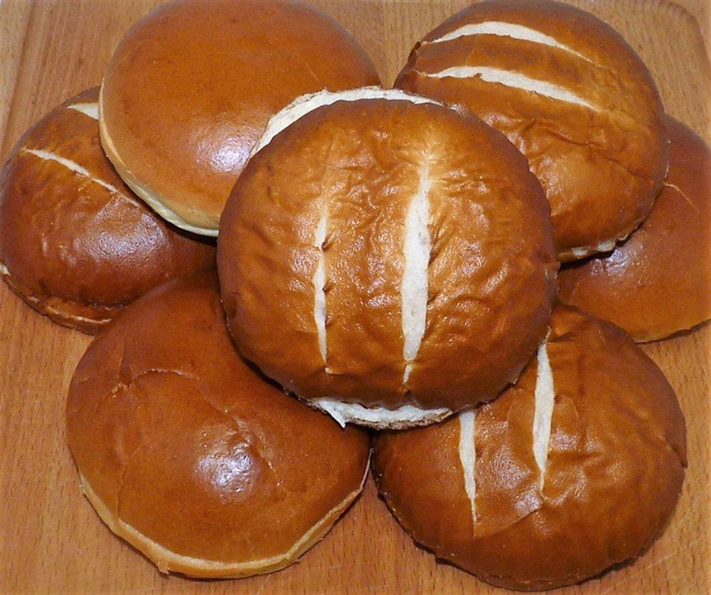 Pretzel Burger Buns