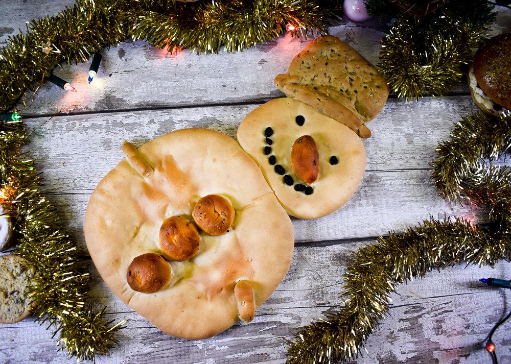 Bread Snowman