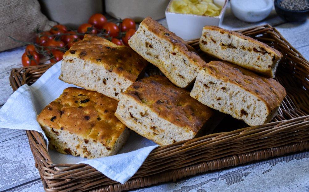 Sun-dried Tomato Focaccia Squares