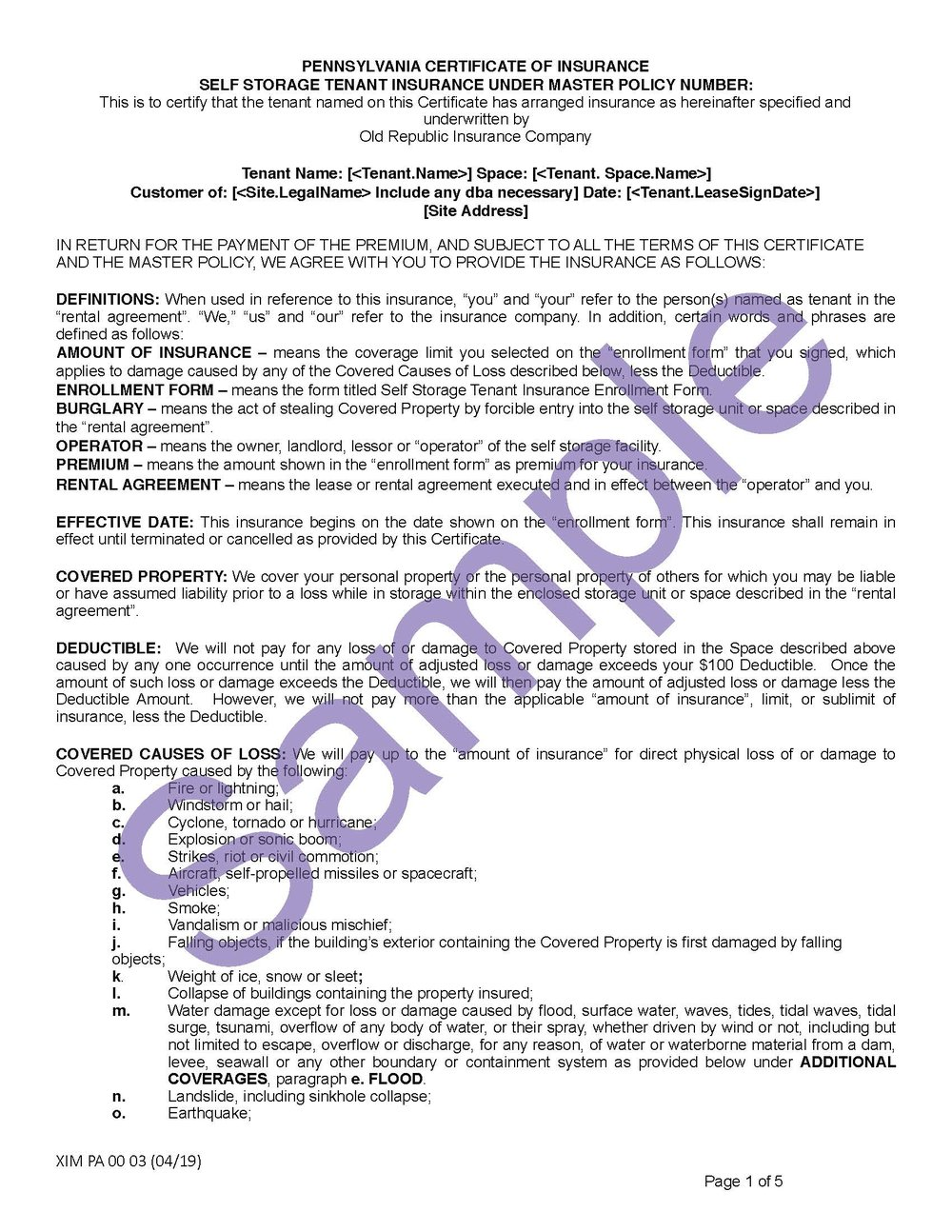 XIM PA 00 03 04 19 Pennsylvania Certificate of InsuranceSample_Page_1.jpg