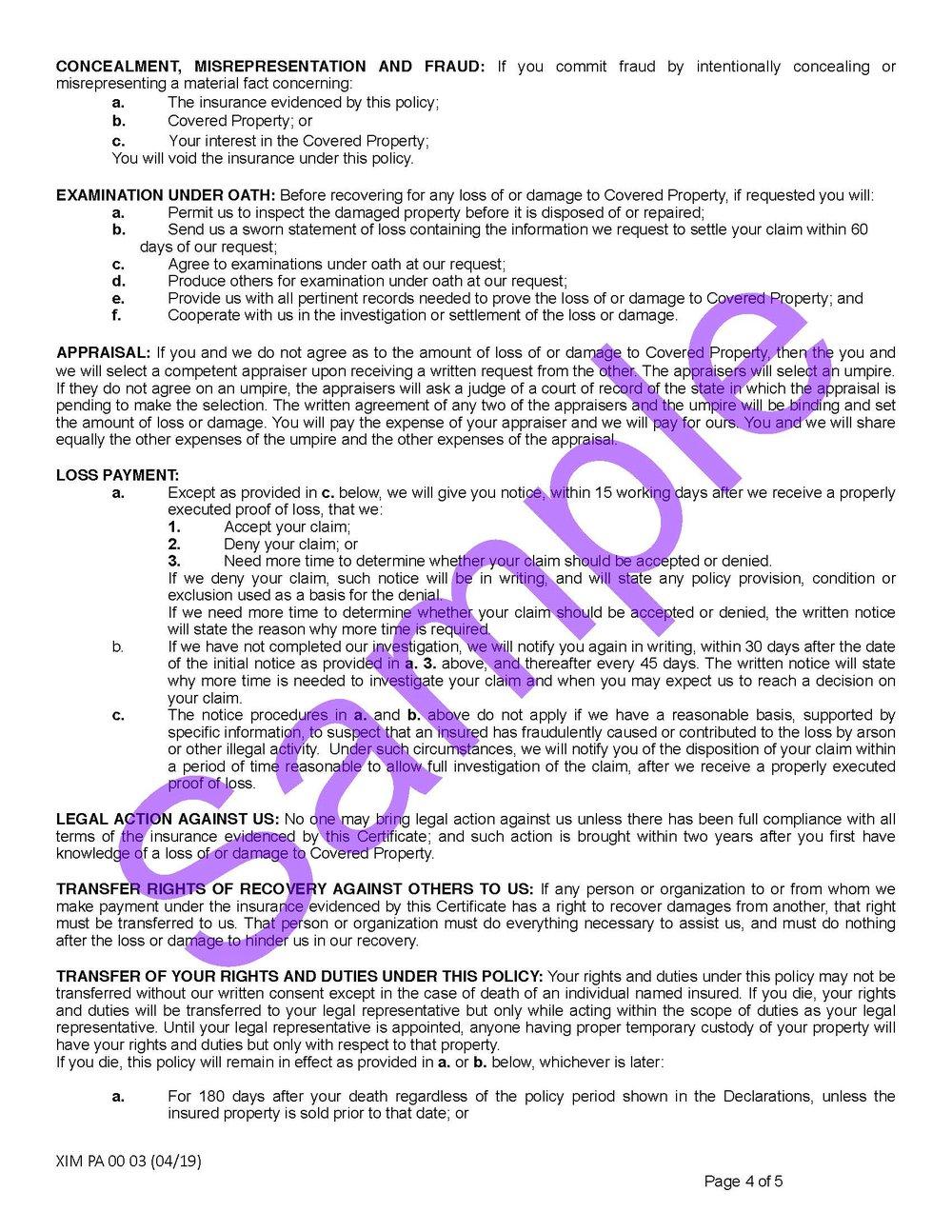 XIM PA 00 03 04 19 Pennsylvania Certificate of InsuranceSample_Page_4.jpg