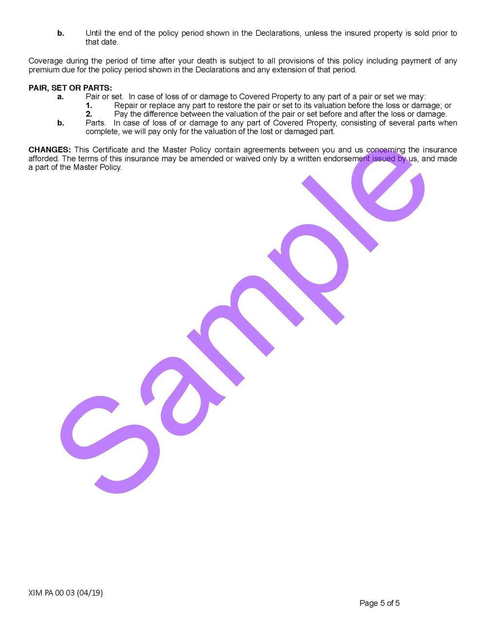 XIM PA 00 03 04 19 Pennsylvania Certificate of InsuranceSample_Page_5.jpg