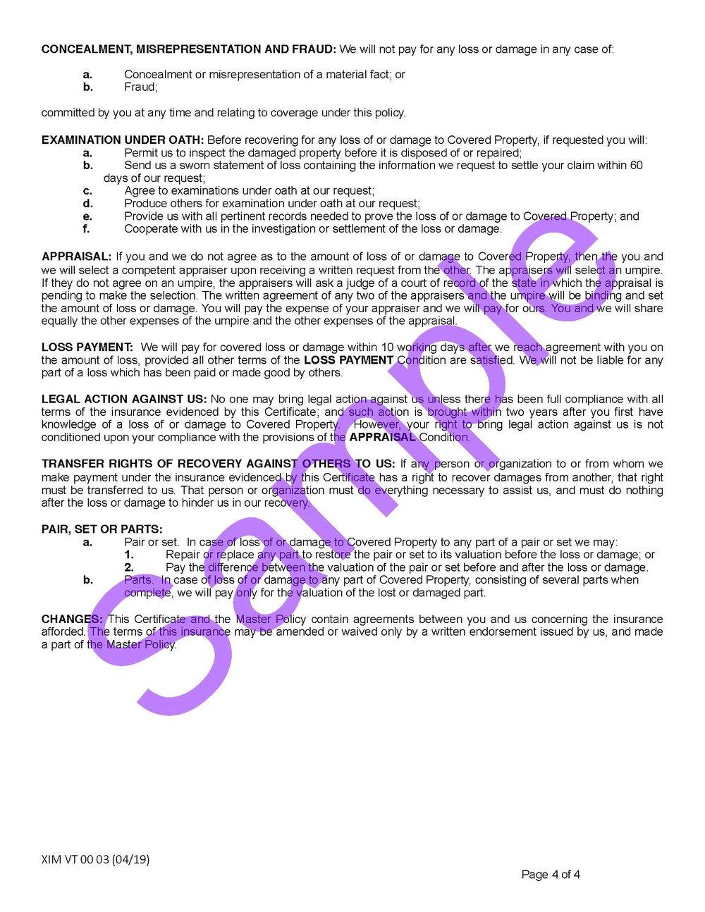 XIM VT 00 03 04 19 Vermont Certificate of InsuranceSample_Page_4.jpg