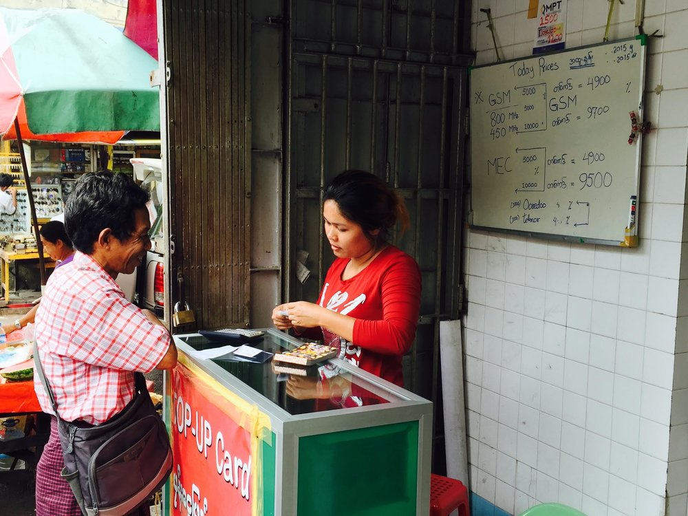 Yangon, Myanmar Mobile Money Agent