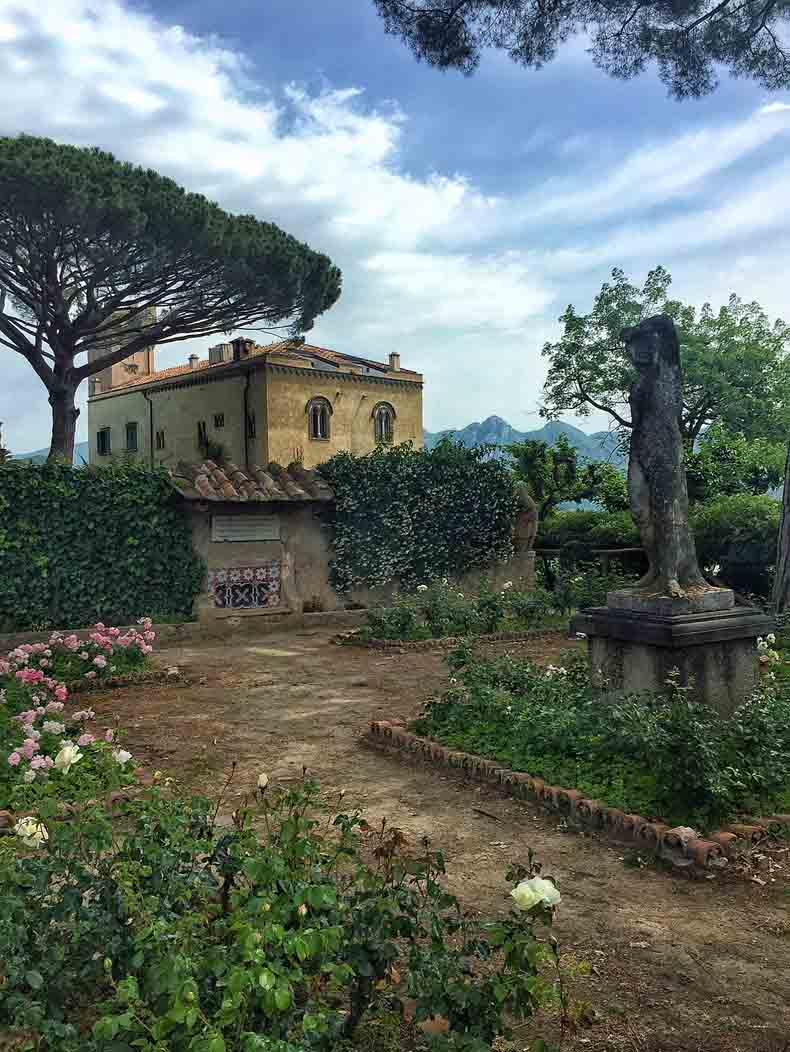 Villa Cimbrone's gardens.