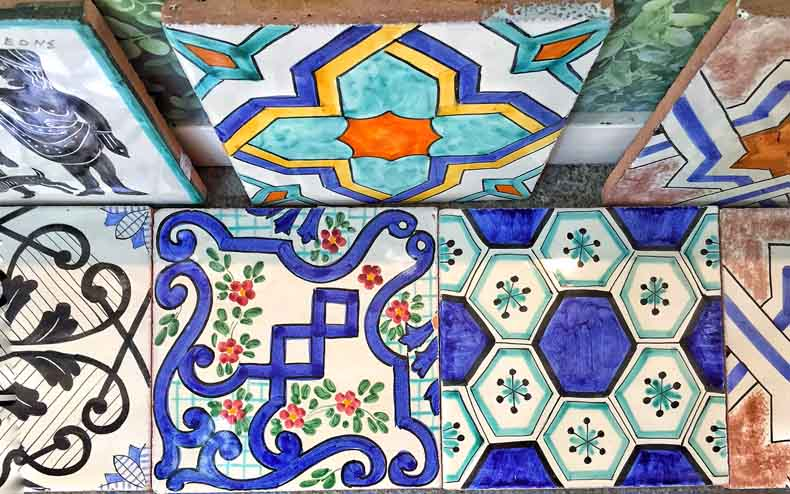 More beautiful tiles in Ravello.