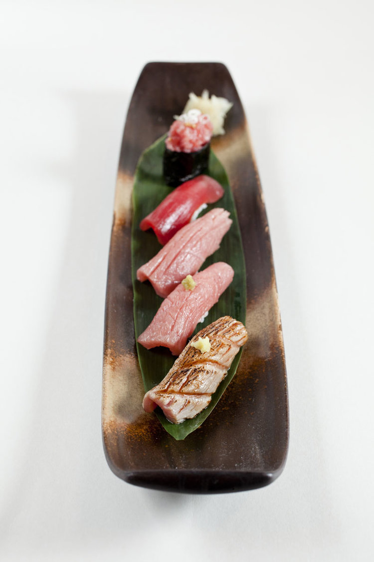 The tuna set. Photo courtesy of Yamataka.