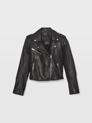 Gracella Leather Moto Jacket  HK$6990
