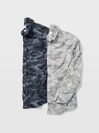 Slim Camo Donegal Shirt  HK$1290
