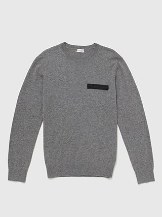 Cashmere Zip Pocket Crew  HK$2990