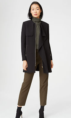 Roenna Collarless Trench  HK$3590