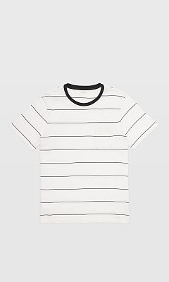 Short-Sleeve Narrow Stripe Tee  HK$490