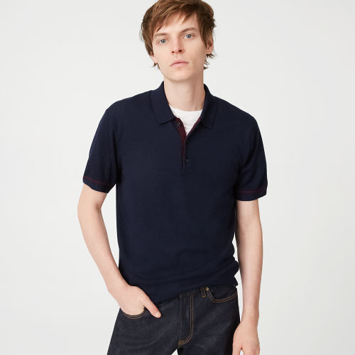 Tipped Merino Polo  HK$1490