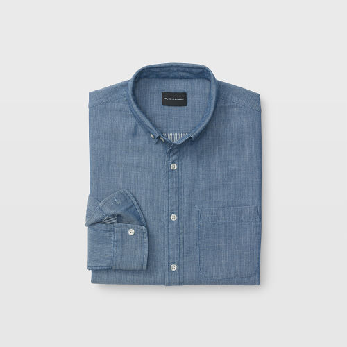 Slim Double-Faced Indigo Shirt  HK$1490