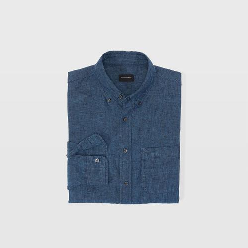 Slim Cross-Dye Linen Shirt  HK$1090