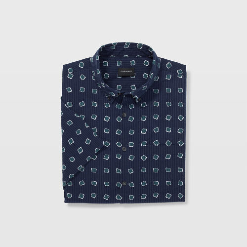 SS Seersucker Square Dot Shirt  HK$1,090