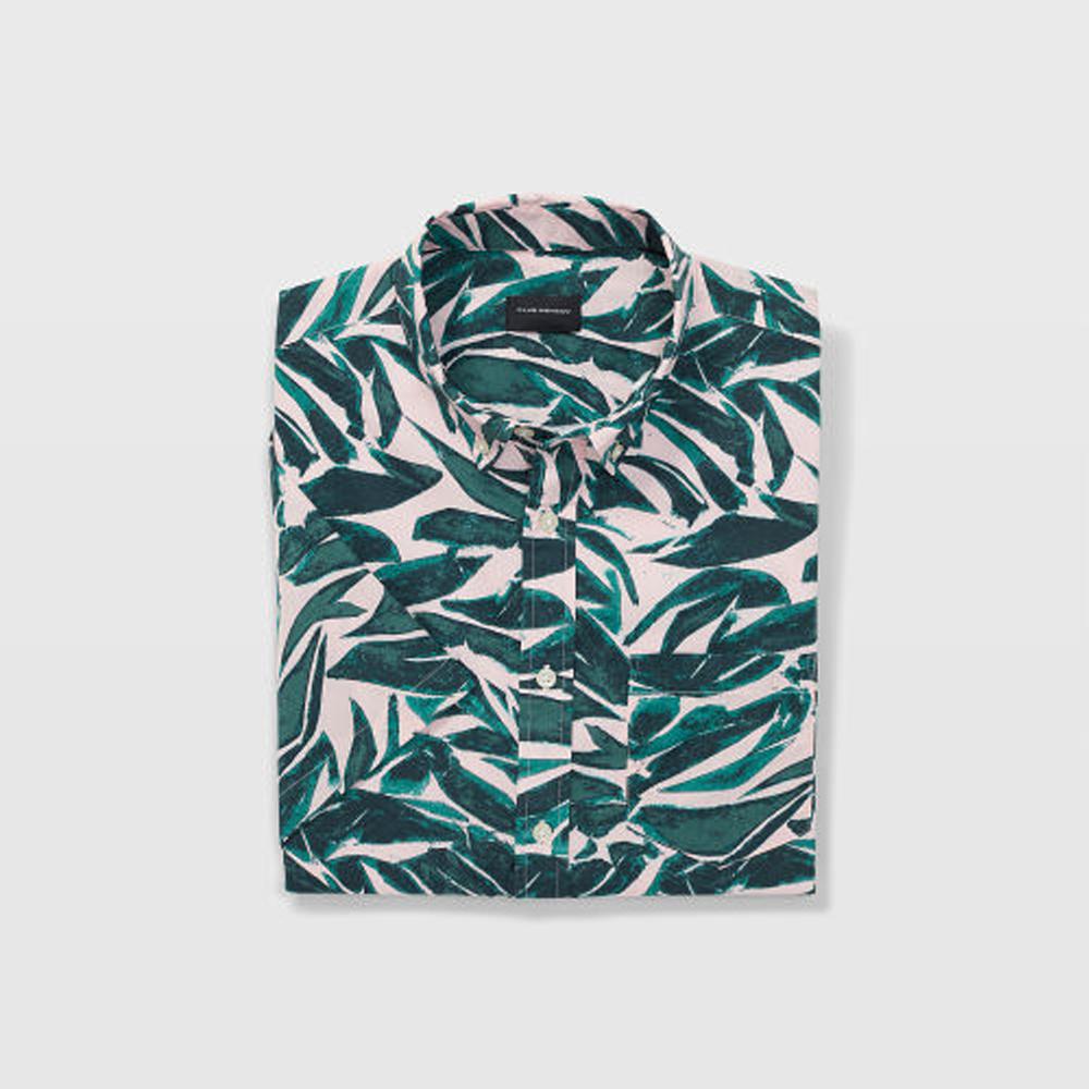 Slim Short-Sleeve Leaf Shirt   HK$990