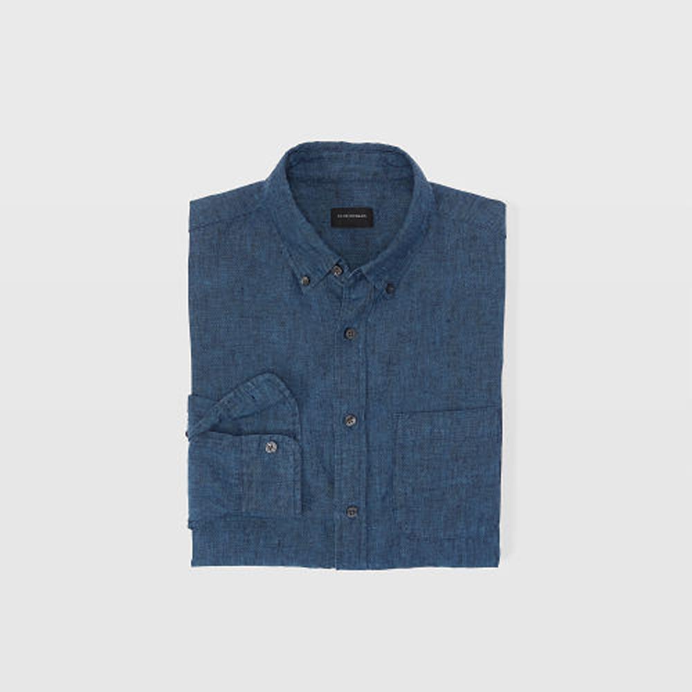Slim Cross-Dye Linen Shirt   HK$1,090