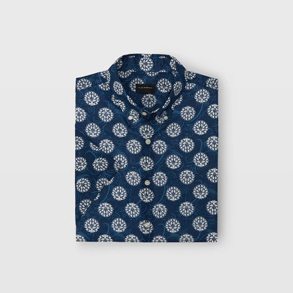 Slim Short-Sleeve Floral Shirt  HK$990