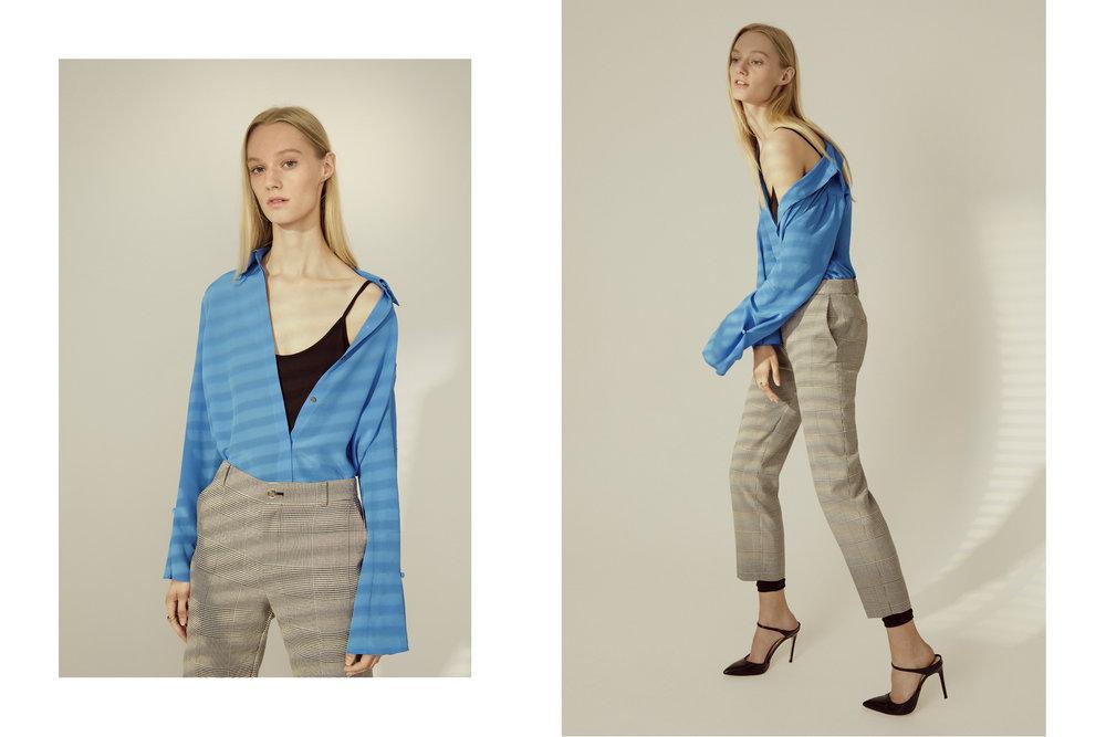 Unitard, Gaelinda Silk Shirt, Borrem Pant