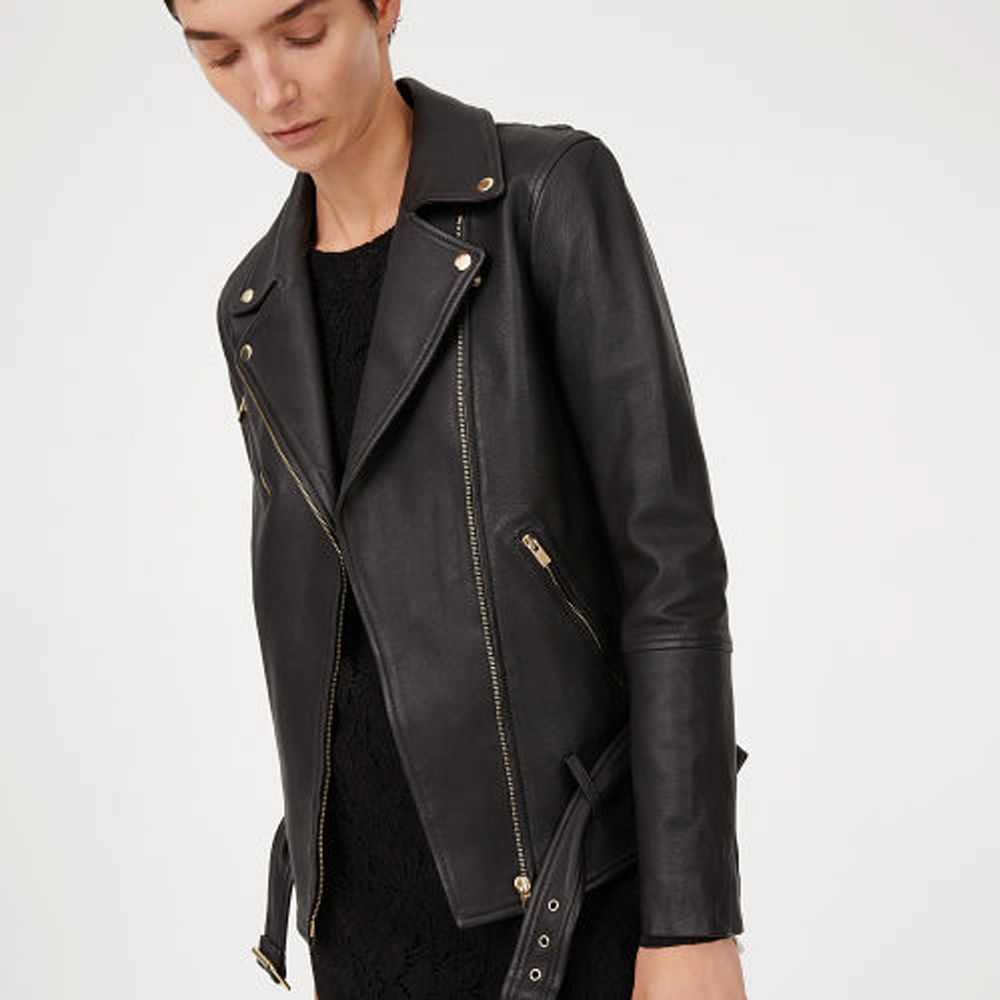 Cyrena Leather Jacket   HK$6,590