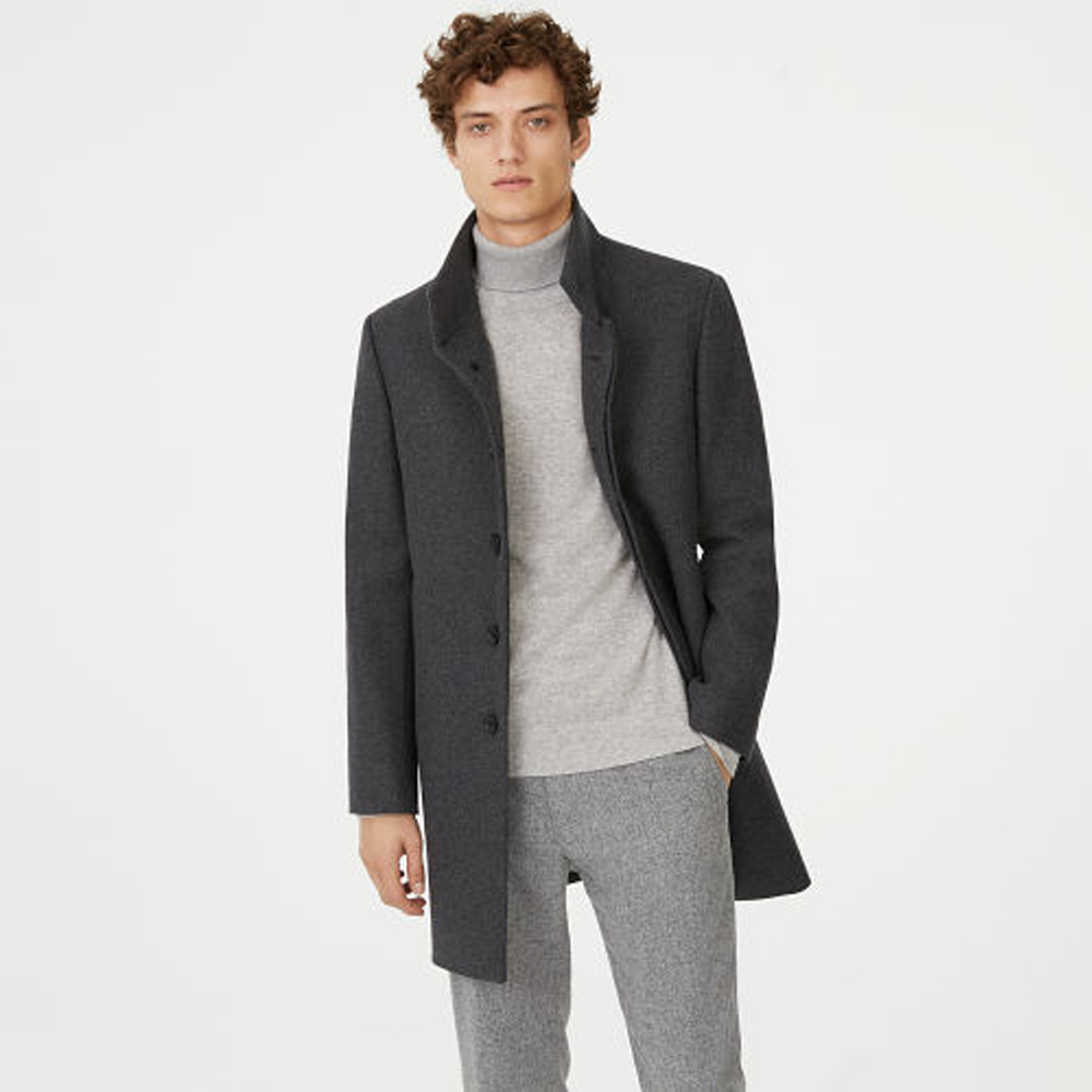 Funnel-Neck Topcoat  HK$4,690