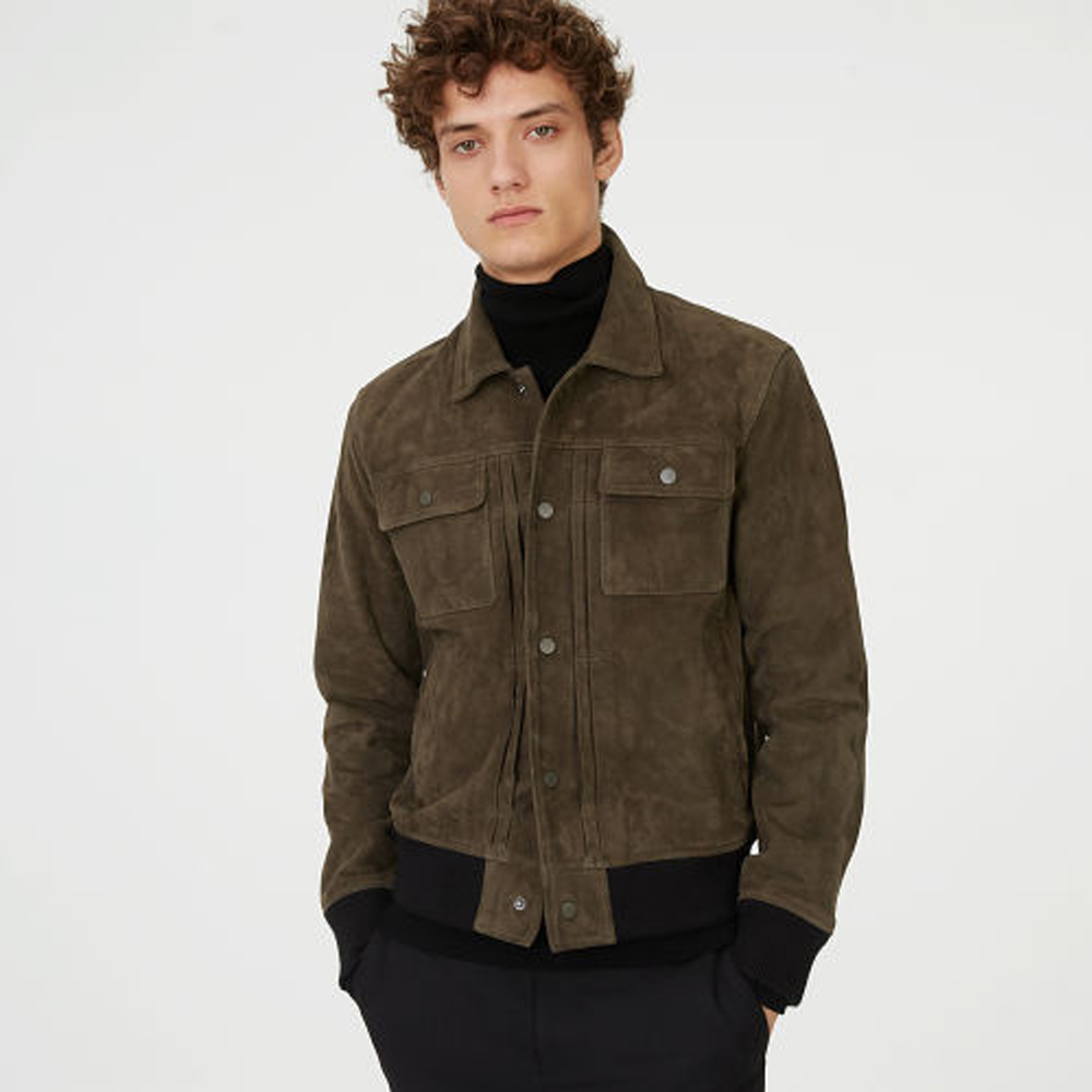 Suede Trucker Jacket   HK$6,990