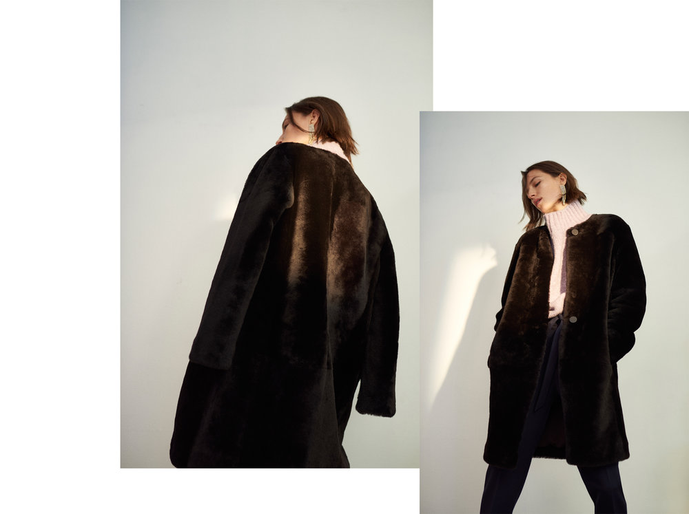 Mercee Shearling Coat HK$17,990, Feleesha Pant HK$1,990