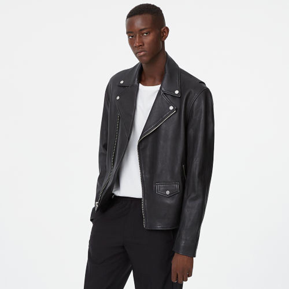 Leather Biker Jacket   was HK$6,990   now HK$4,893