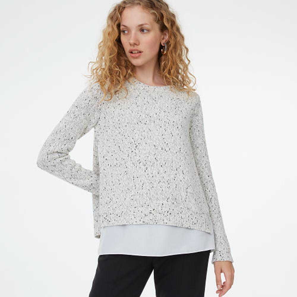 Kaelane Mixed Media Sweater   HK$1,890