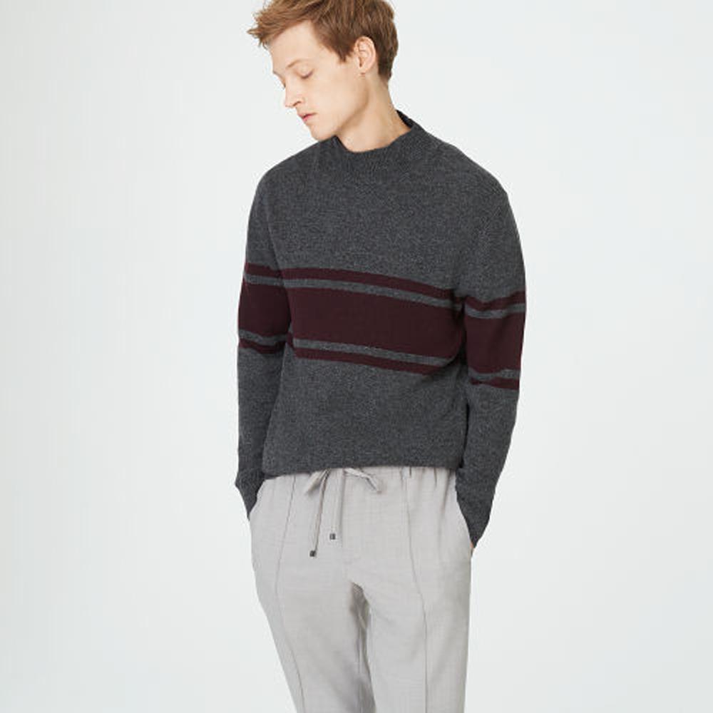 Felted Stripe Mockneck Sweater   HK$1,490