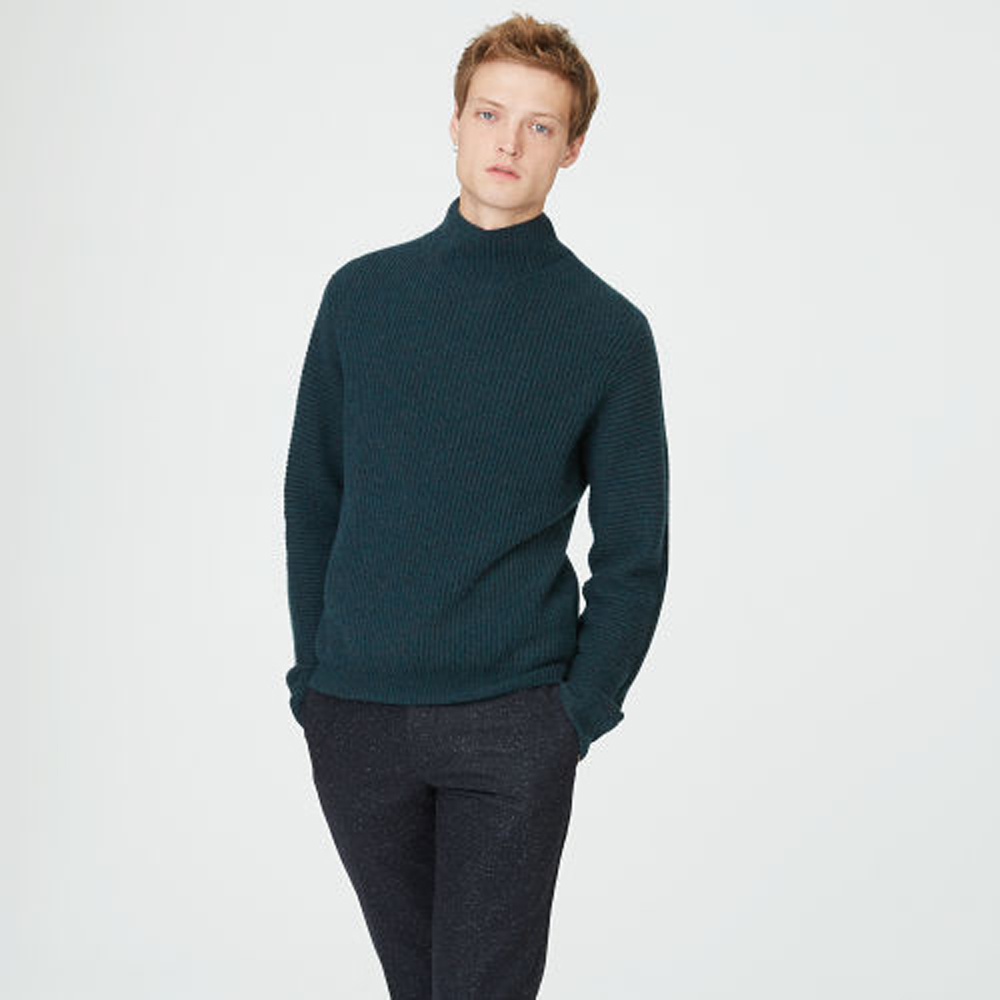 Cashmere Rib Mockneck Sweater   HK$3,290