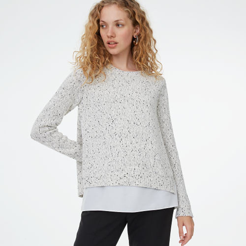 Kaelane Mixed Media Sweater   HK$1,890