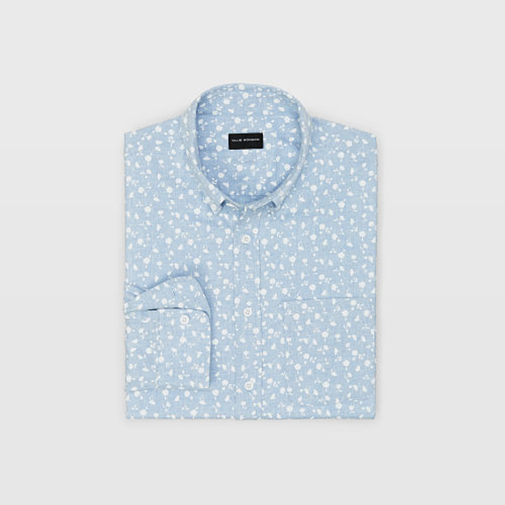 Slim Floral Flannel Shirt   was HK$1,090   now HK$763