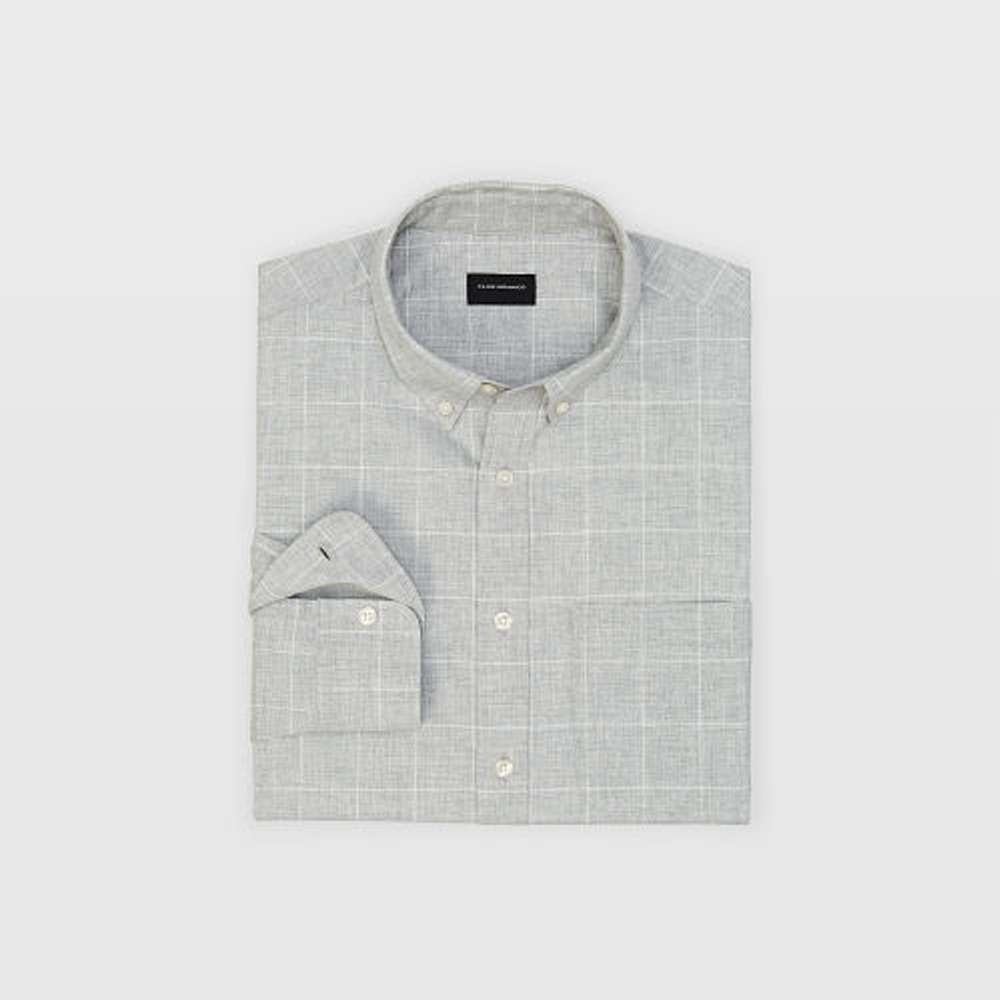Slim Windowpane Flannel Shirt   was HK$1,090   now HK$763