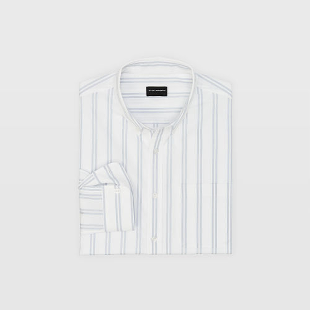 Slim End-On-End Stripe Shirt   was HK$1,090   now HK$763