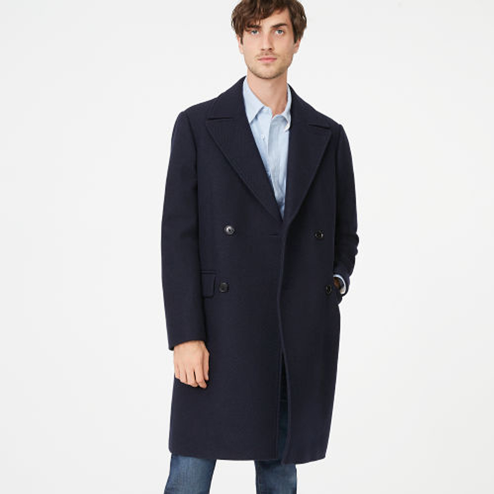 Double Breasted Topcoat   was HK$5,990   now HK$4,193