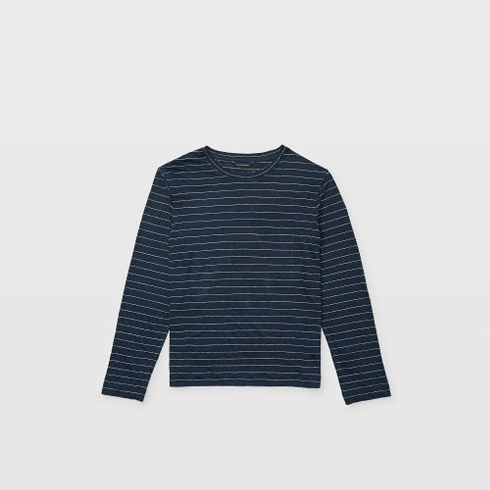 Long-Sleeve Linen Stripe Crew   HK$1,190
