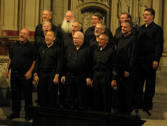 Members of the Case Men's Glee Club at the 2009 Celebration