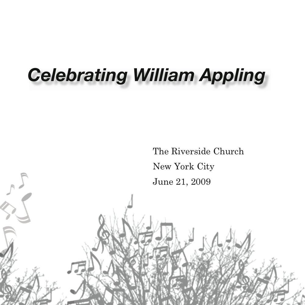 Celebrating William Appling - June 21, 2009 — William Appling ...
