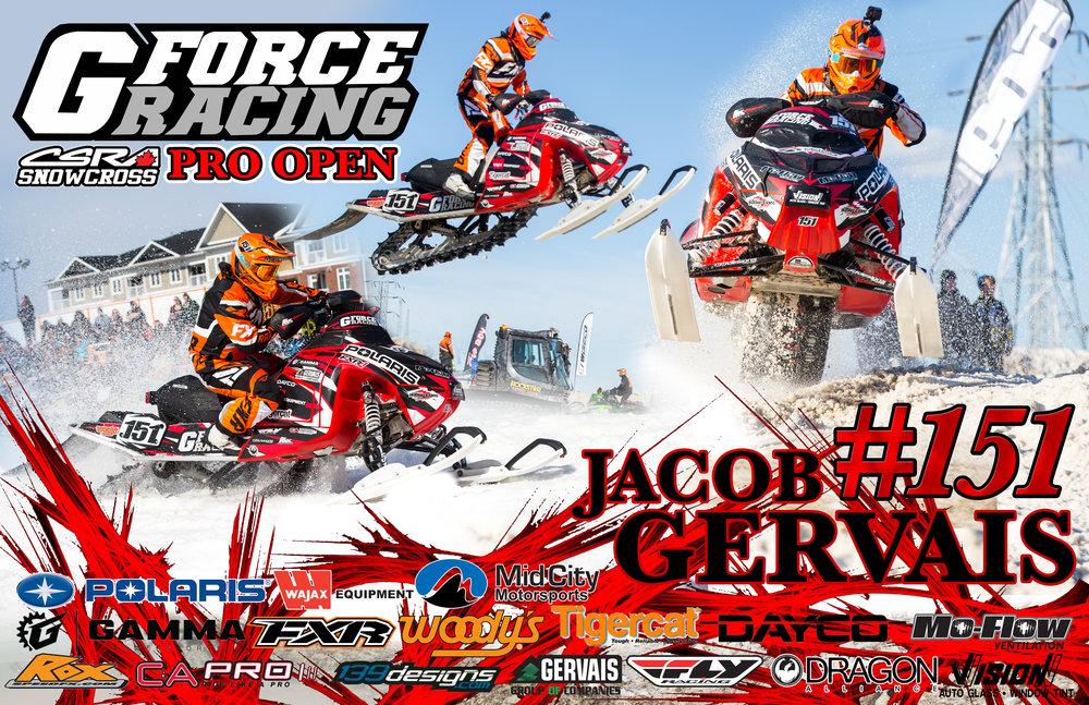 Jacob Gervais - G-Force Racing - Pro Open Snowcross